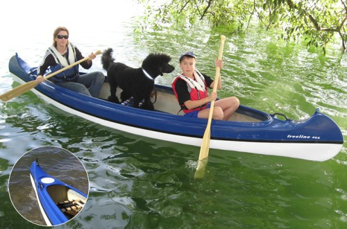 hund i kanot