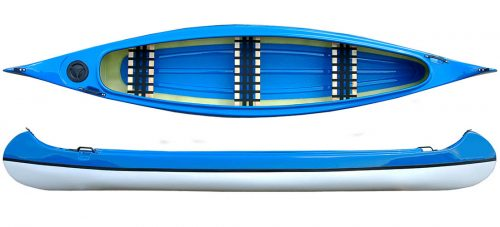 kanot blå